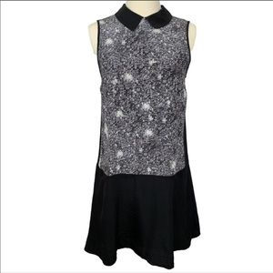 Marc by Marc Jacobs Sequin Print Silk Collar Dress